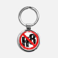 NO H8 red nb Round Keychain