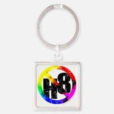 NO H8 td nb Square Keychain