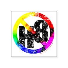 "NO H8 td nb Square Sticker 3"" x 3"""