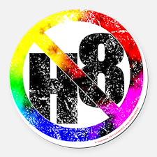 NO H8 td nb Round Car Magnet