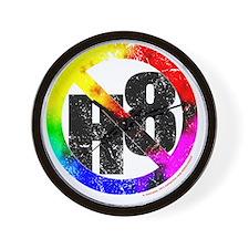 NO H8 td nb Wall Clock