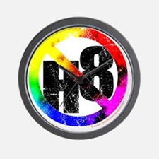 NO H8 td nb Wall Clock