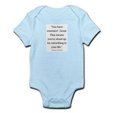 CHURCHILL QUOTE - ENEMIES Infant Bodysuit