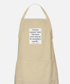 CHURCHILL QUOTE - ENEMIES Apron