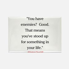 CHURCHILL QUOTE - ENEMIES Rectangle Magnet