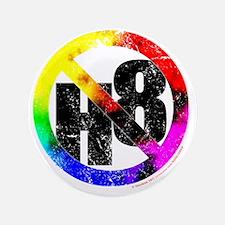 "NO H8 td nb 3.5"" Button"