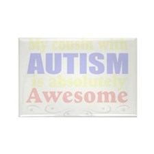 Awesome autism cousin Rectangle Magnet