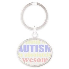 Awesome autism cousin Oval Keychain