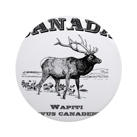 Canadian Wapiti Round Ornament