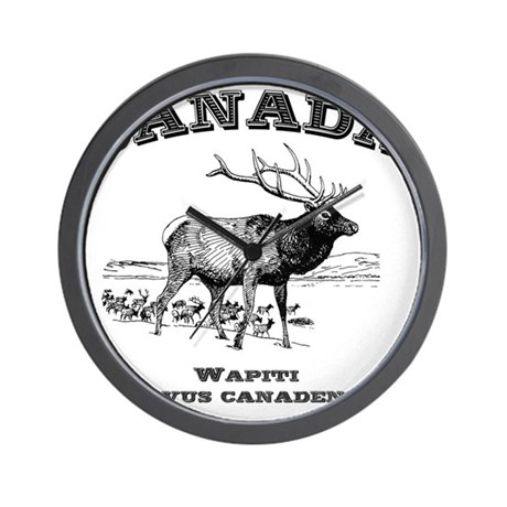 Canadian Wapiti Wall Clock