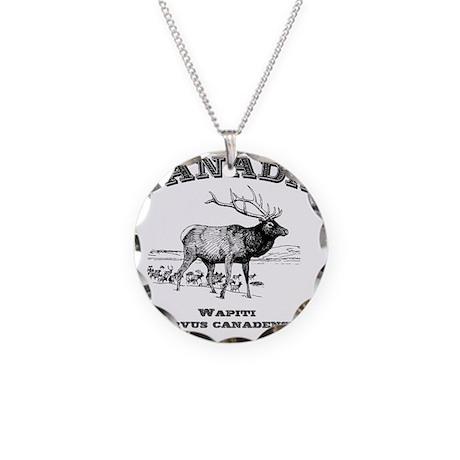 Canadian Wapiti Necklace Circle Charm