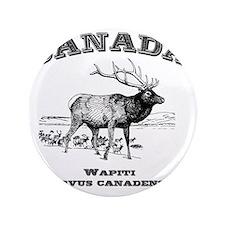"""Canadian Wapiti 3.5"""" Button"""