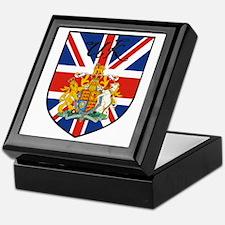 UK Flag Crest Shield Keepsake Box