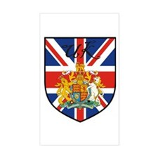 UK Flag Crest Shield Rectangle Decal