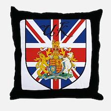 UK Flag Crest Shield Throw Pillow