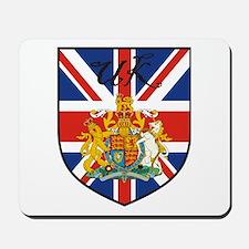 UK Flag Crest Shield Mousepad