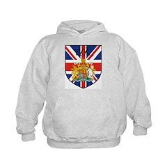 UK Flag Crest Shield Kids Hoodie