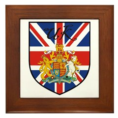 UK Flag Crest Shield Framed Tile