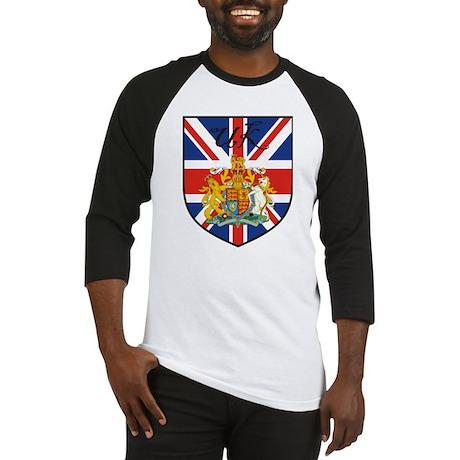 UK Flag Crest Shield Baseball Jersey