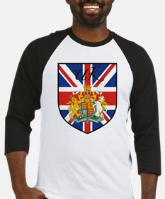 UK Flag Crest Shield Baseball Jersey