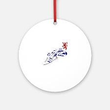 Scotland Football Lion Crest Round Ornament