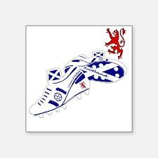 """Scotland Football Lion Cres Square Sticker 3"""" x 3"""""""