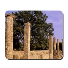 Europe, Greece, Ancient Olympia. Temple  Mousepad