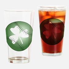 Baseball Shamrock Drinking Glass