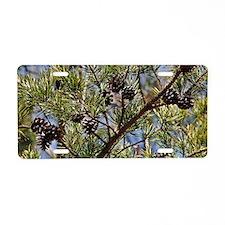 pinecone_clutch Aluminum License Plate