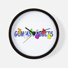 Gummy Rabbits Wall Clock