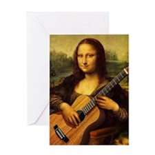 mona-guitar-LG Greeting Card