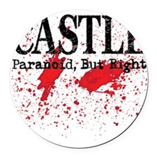 Castle_Bloody-ParanoidRight_lite Round Car Magnet