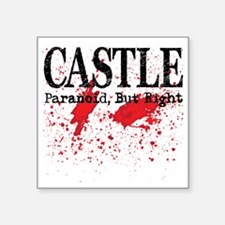 "Castle_Bloody-ParanoidRight Square Sticker 3"" x 3"""