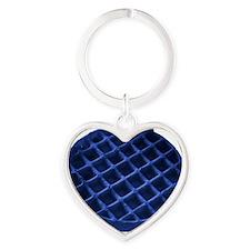 blue-waffle Heart Keychain