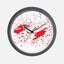 Castle_Bloody-Write_dark Wall Clock