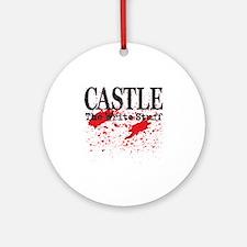 Castle_Bloody-Write_lite Round Ornament