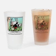 CA Cow Drinking Glass
