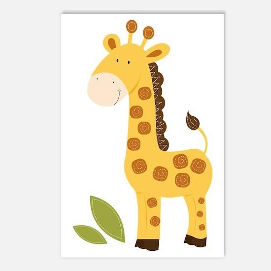 Yellow / Orange Cute Gira Postcards (Package of 8)