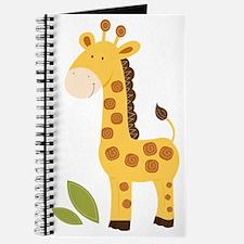 Yellow / Orange Cute Giraffe Journal