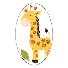 Yellow / Orange Cute Giraffe Decal