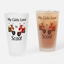 1_MyGirlsLoveToScoot Drinking Glass