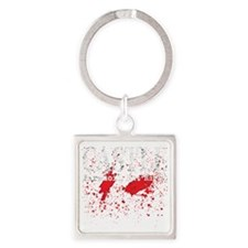 Castle_Bloody-ParanoidRight_dark Square Keychain