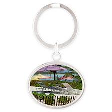 CastawayIsland_4X6 Oval Keychain