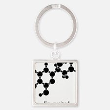 Excited Epinephrine Square Keychain