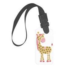 Jungle Jill Giraffe Pink Luggage Tag