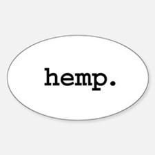 hemp. Oval Decal