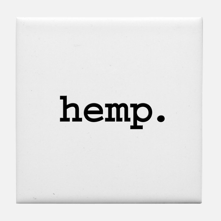 hemp. Tile Coaster