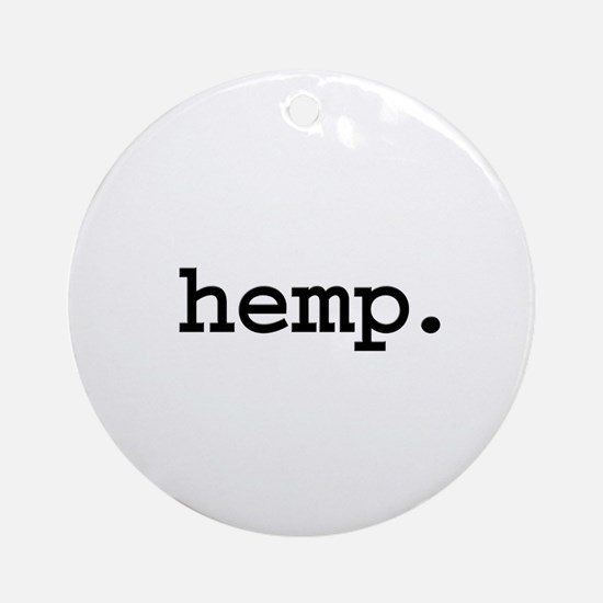 hemp. Ornament (Round)