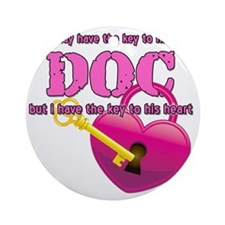 DOC Heart - 10 inches Round Ornament