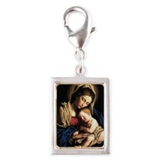 virgin-mary-0108 Silver Portrait Charm